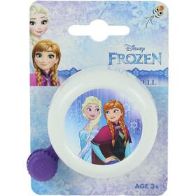 Diverse Frozen fietsbel wit/bont